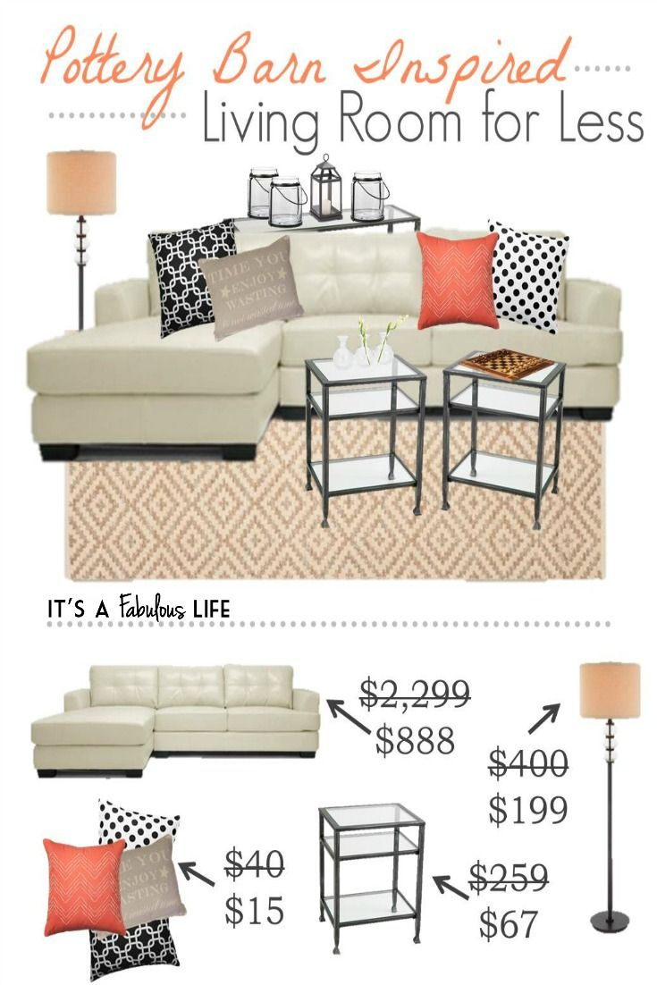 Pottery Barn Inspired Living Room Get The Look For Less It S A Fabulous Life Pottery Barn Inspired Living Room Rooms Home Decor Home Decor #pottery #barn #inspired #living #room