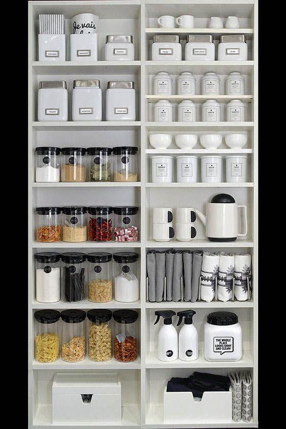 Nice kitchen baking organization made easy