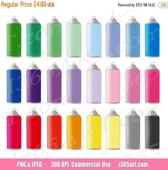 Buy 3 Get 1 Free Spray Paint Clipart Spray Can Clip Art Etsy In 2021 Clip Art Planner Icons Digital Graphics