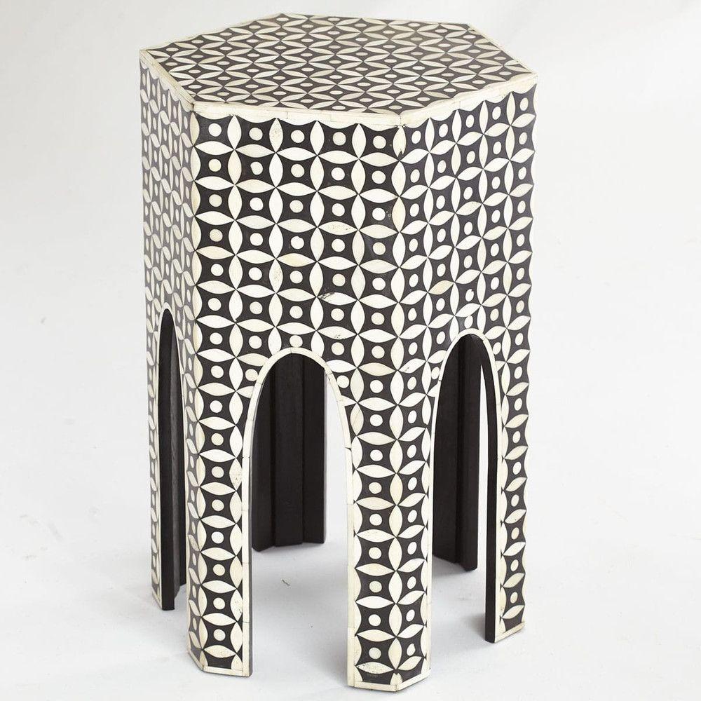 Arabian Bone Side Table