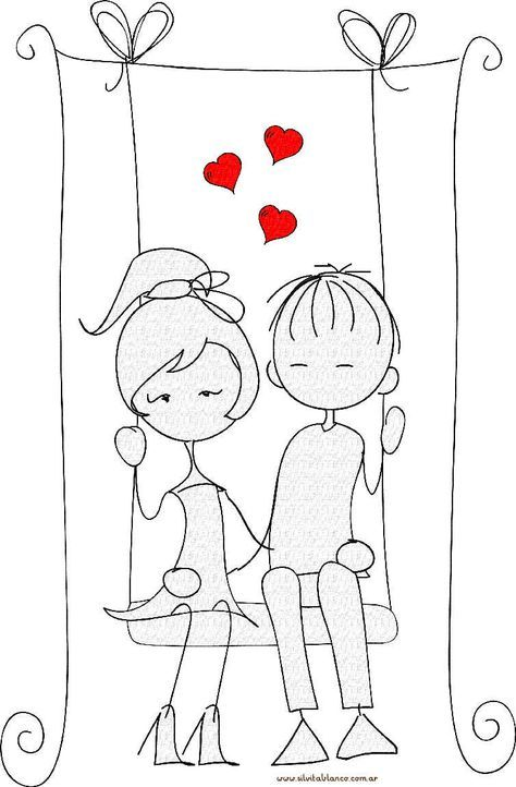 Munecos Palito San Valentin Embroidery Patterns Vintage Cute Drawings Doodle Art