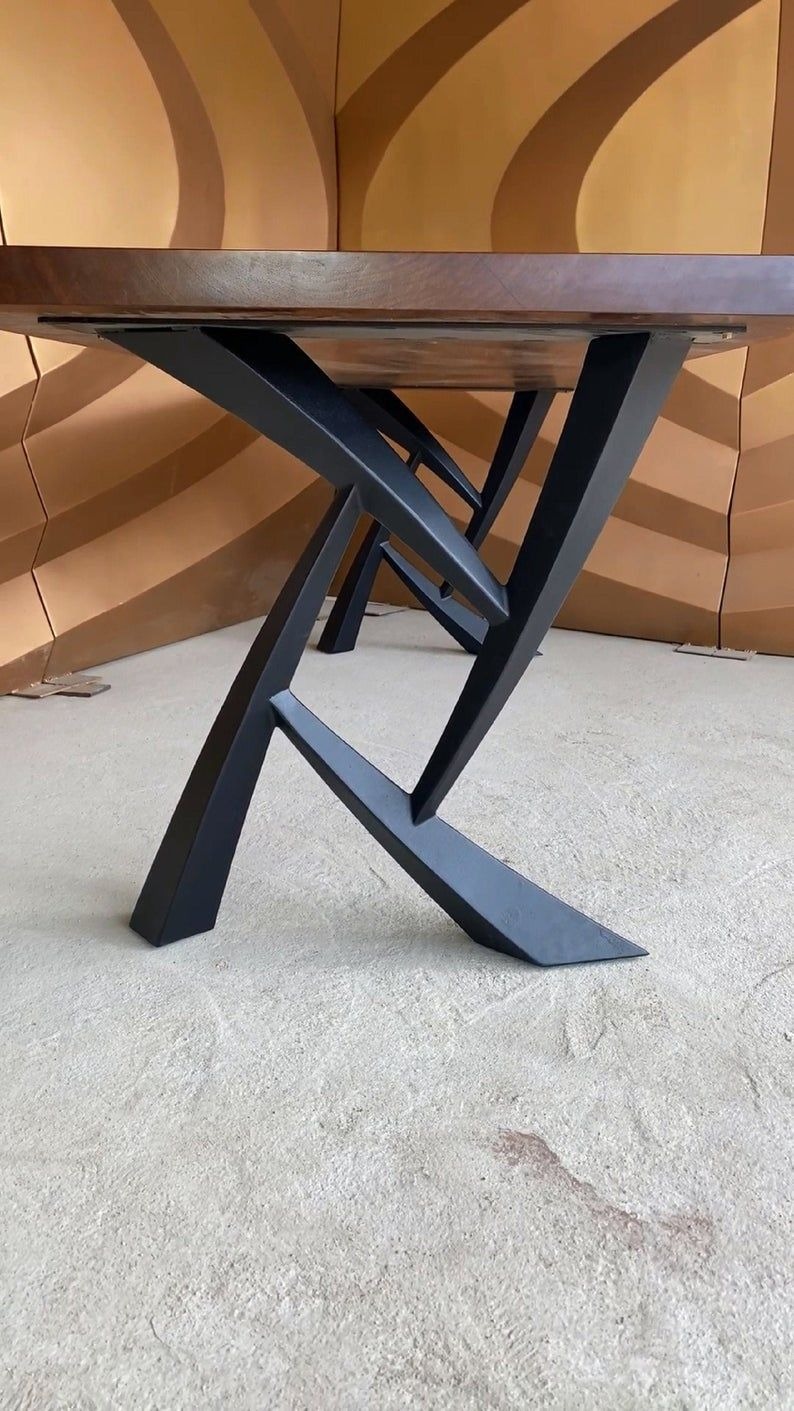 Metal Table Legs (set of 2), Furniture legs, Modern dining ...