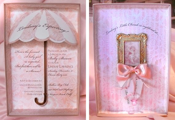 Extravagant Girl Baby Shower Kristy McTaggart stationery