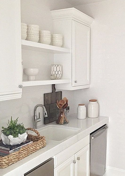 Open Shelving Over Sink If No Window
