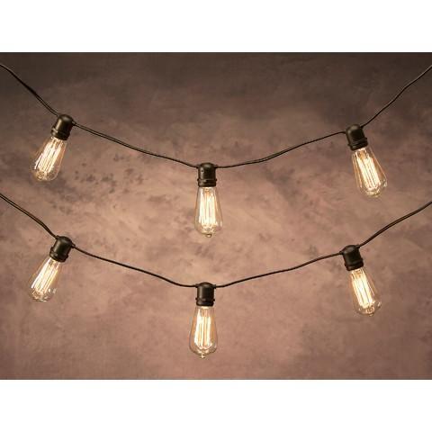 12\u0027 Cleveland Vintage Lighting 10 Edison Light Bulb Socket Cord Set