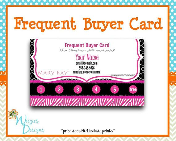 Mary Kay Frequent Buyer Card Business Card by WeeziesDesigns Mary
