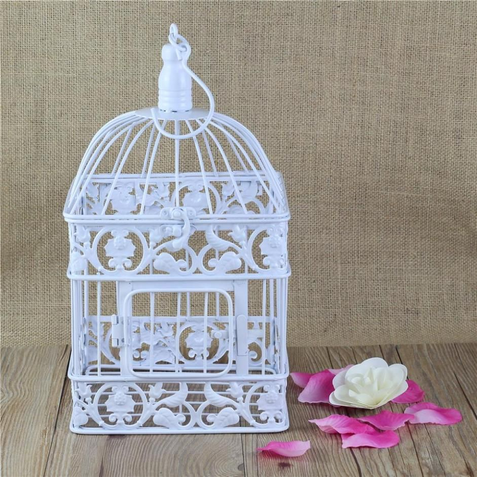 Cheap Cage Nut Buy Quality Materials Directly From China Decorative Craft Bird Cages Suppliers Hot Sale Iron Antique White Set Of 2