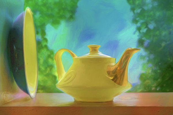 Yellow Teapot and Bowl\