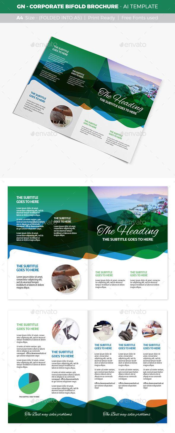GN - Corporate Bifold Brochure | Pinterest