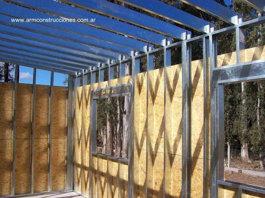 Etapa de construcción de una vivienda con el sistema Steel Framing ...