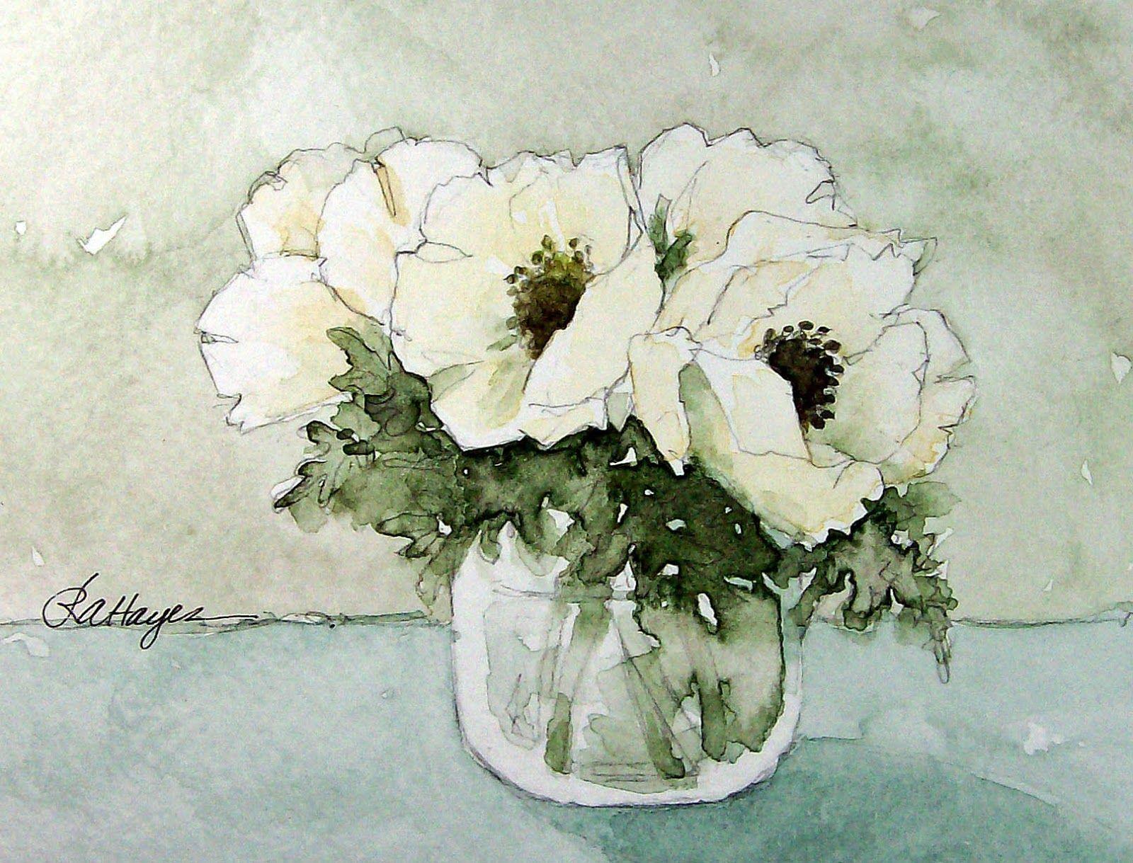 Watercolor paintings by roseann hayes aquarelles for Pinterest aquarell