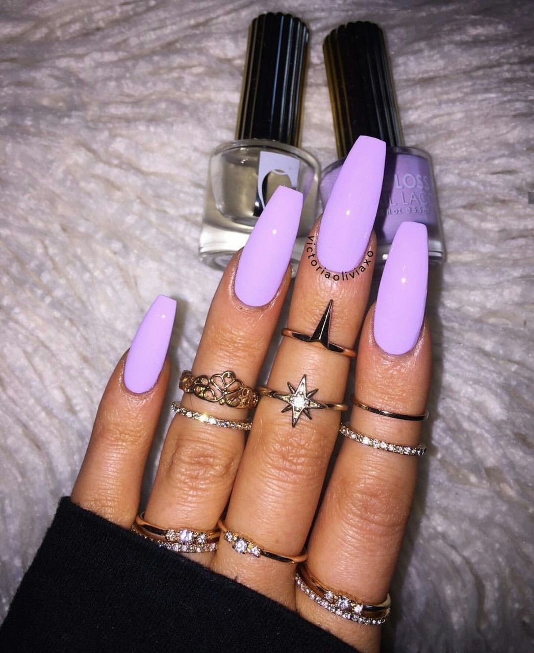 Pinterest Ig Itsnaniblanco Purple Acrylic Nails Fashion Nails Purple Nails