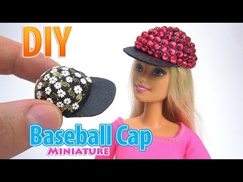Photo of DIY Miniature Baseball Cap| DollHouse | No Polymer Clay!