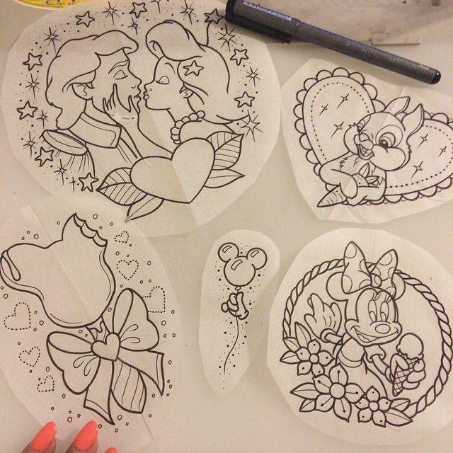 Photo of Disney Tattoos – alexstrangler's photo on Instagram Mickey ballon and ice cream…
