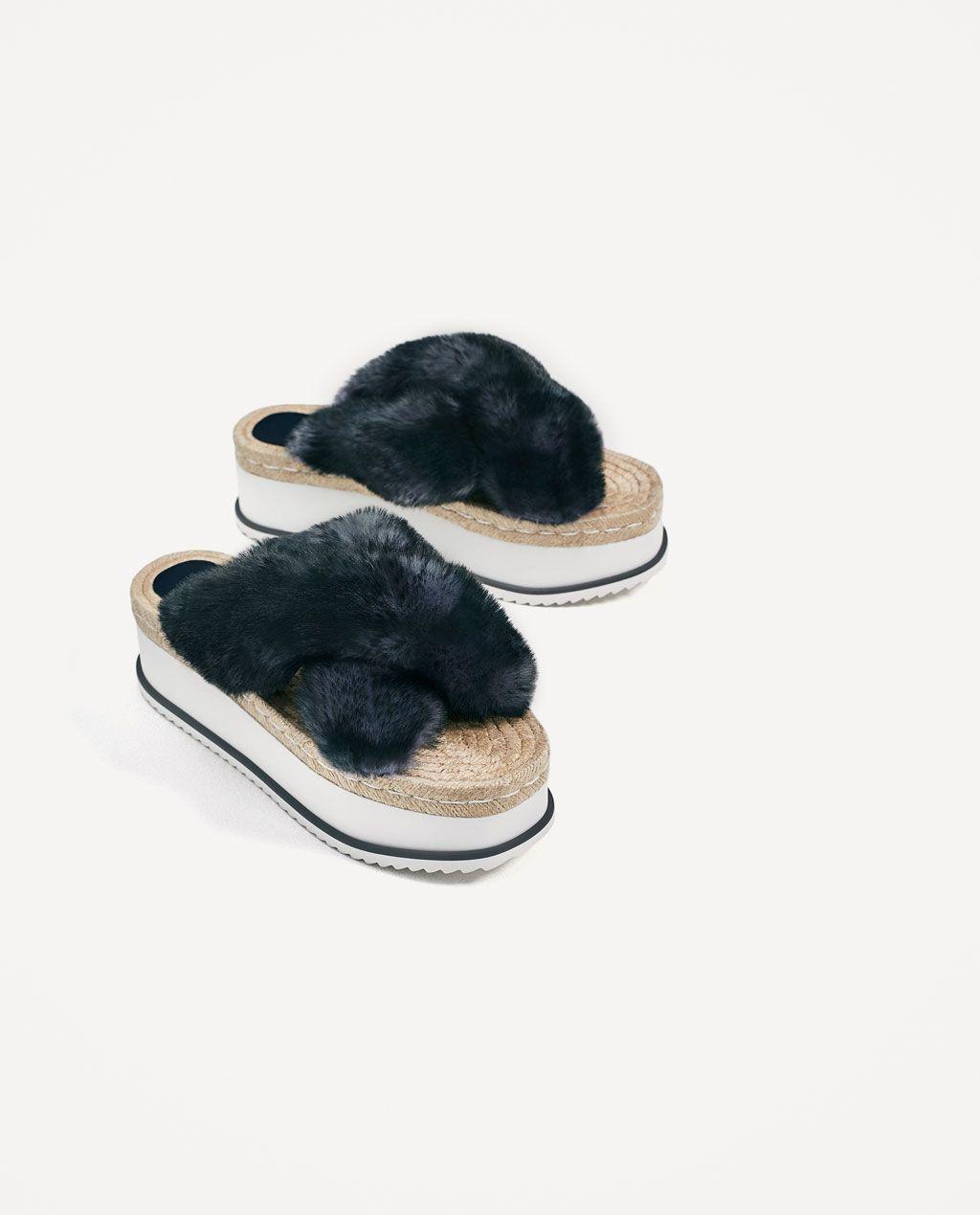 d57076f97c46 CUÑA PLATAFORMA PELO | Shoes and Bootish | Shoes, Zara fashion, Fashion
