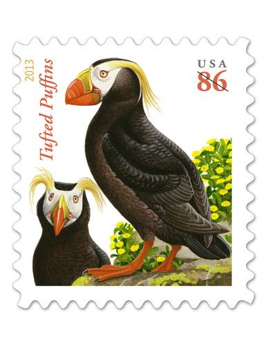 USPS New 86 Cent Tufted Puffins Self Adhesive Stamp Sheet of 20
