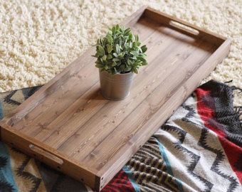 Wooden Tray Decor Glamorous Rustic Wooden Ottoman Tray Coffee Table Tray Serving Tray 2018