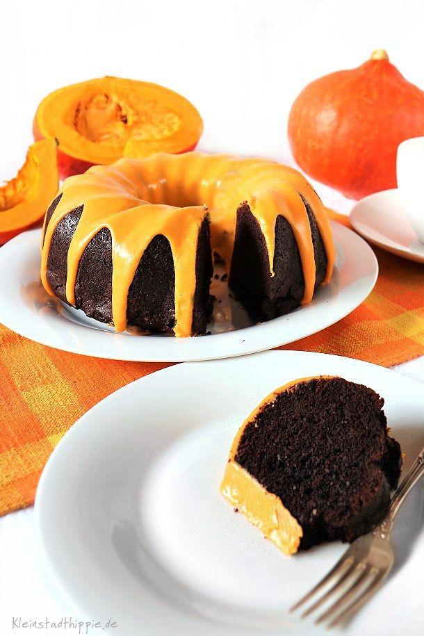 Kurbis Schokokuchen Mit Orange Vegane Kuchen Von