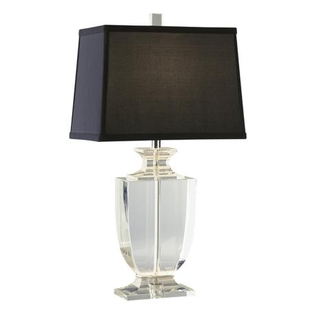 Artemis Accent Clear Crystal Black Shade Table Lamp 93919 Lamps Plus Table Lamp Lamp Crystal Table Lamps