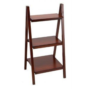 Benzara 96167 39 in. H Wood Ladder Bookcase - Brown by Benzara. $82.51. Each Tier is 15#44; 13 and 10quot; deep respectively from bottom to top.. Great Gift Idea.. 3 tier leaning ladder wood display shelf is finished in Brown color and is 39quot; in height x. Great for display and storage of books and Collectibles.. Design is stylish and innovative. Satisfaction Ensured.. Benzaras exclusive and trendy home decor accents nautical decor accessories and furniture products fro...