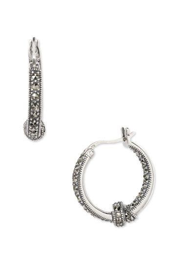 Judith Jack Marcasite Hoop Earrings With Knot Detail Nordstrom Hoop Earrings Small Marcasite Jewelry
