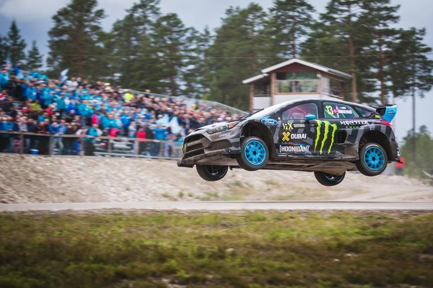 Hoonigan Racing Division\'s Andreas Bakkerud continued on his streak ...