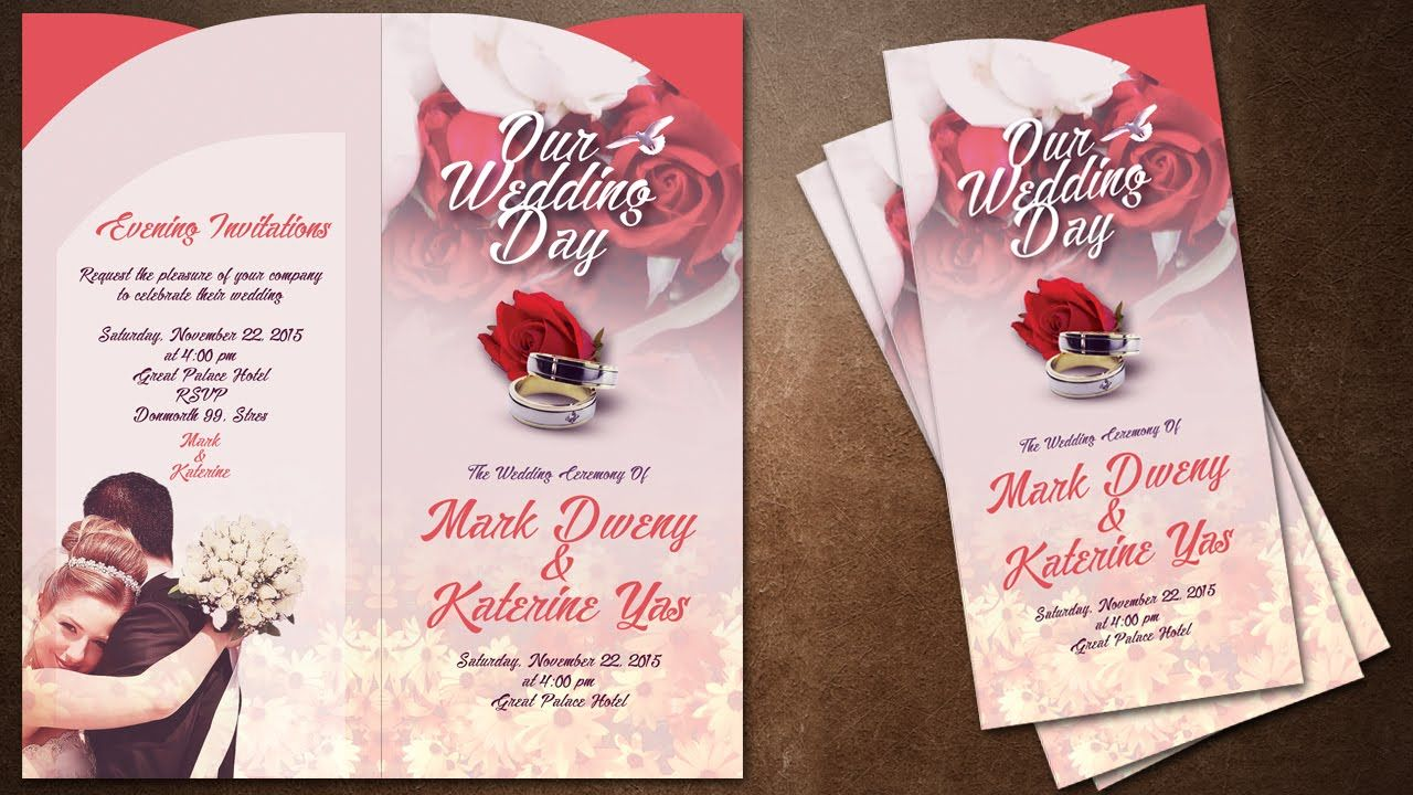 How To Make Creative Wedding Invitations Cover In Photoshop Fun Wedding Invitations Creative Wedding Invitations Wedding Invitation Card Design