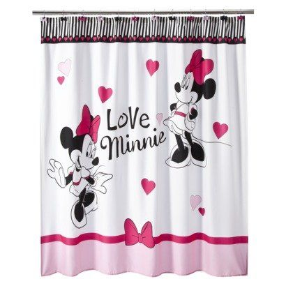 Room. Kids Shower Curtains,Minnie Mouse,Mickey ... - Pin By Puke 😖 On Mickey Is Life Pinterest More Minnie Mouse