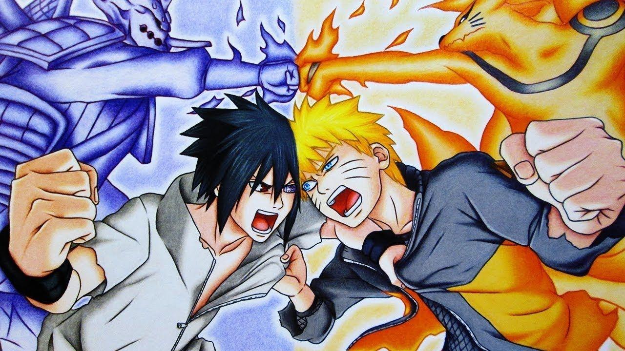 Video Desenhe Seus Personagens Favoritos Naruto Vs Sasuke