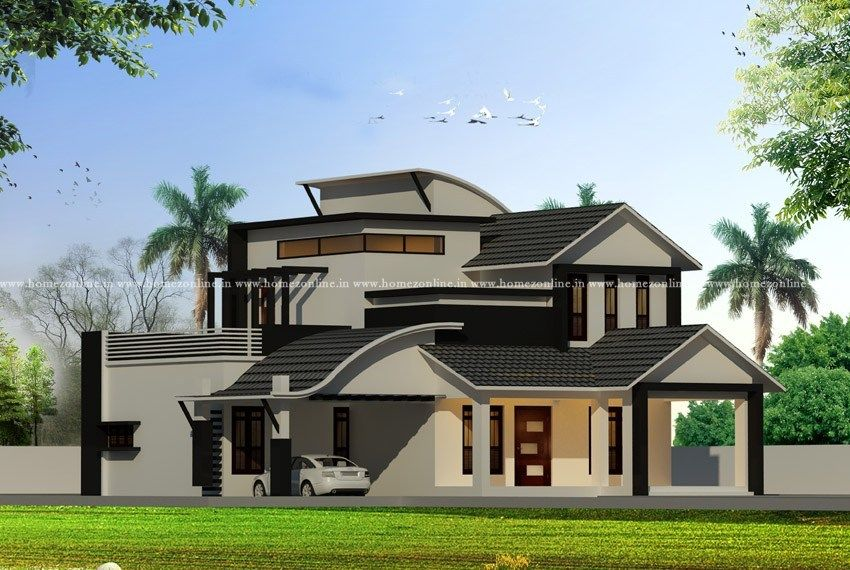 Contemporary House On Modern Roof Design Types Modern Roof Design Interior Design Living Room Roof Design