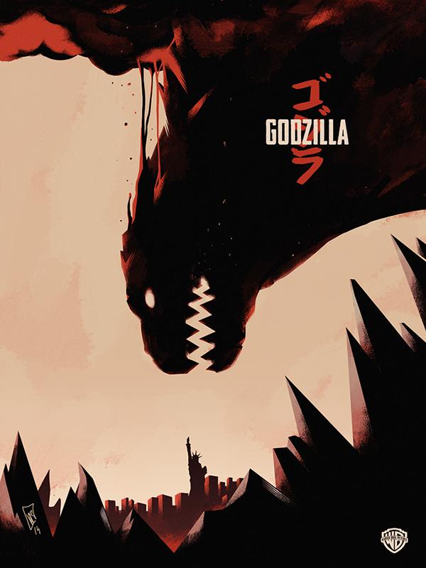 Godzilla Movie Poster On Behance Godzilla Tattoo Godzilla Poster Art