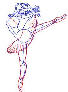 How To Draw A Ballerina By Dawn Ballerina Drawing Drawing