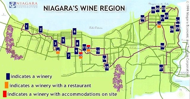 Niagara On The Lake Wineries Map niagara on the lake wineries printable map     Yahoo Image Search