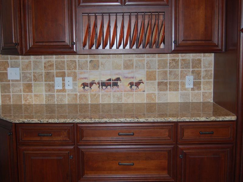 Amazing Horse Tile Mural I Want For The Kitchen