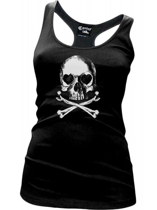 b1e0148cfdd52a Cartel Ink Women s Lovely Bones Racerback Tank Top - Black