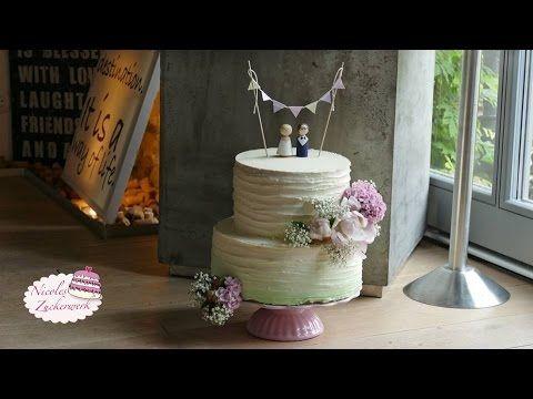 Vintage Hochzeitstorte Im Ombre Look Farbverlauf Ohne Fondant