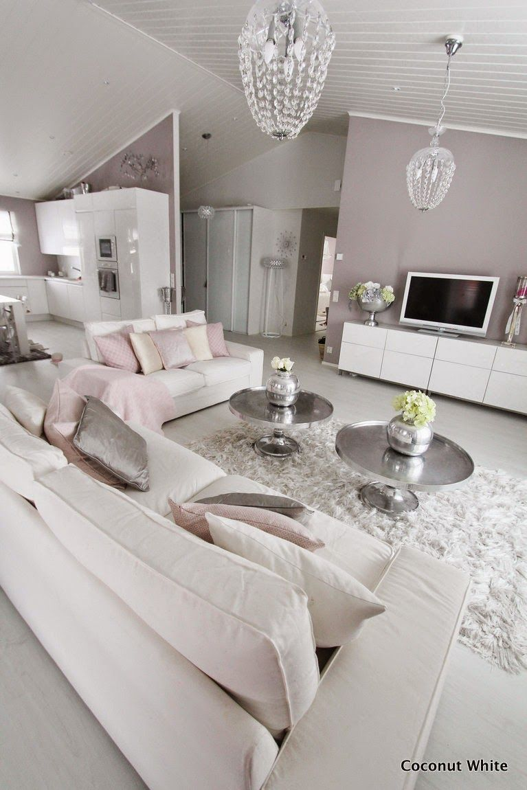 100 Fantastique Concepts Salon Moderne Rose Et Gris