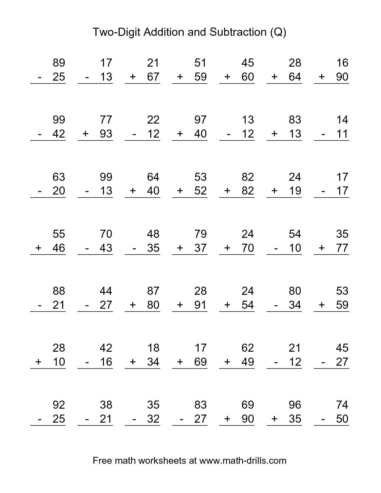 4 Free Math Worksheets Second Grade 2 Addition Add 3 Digit