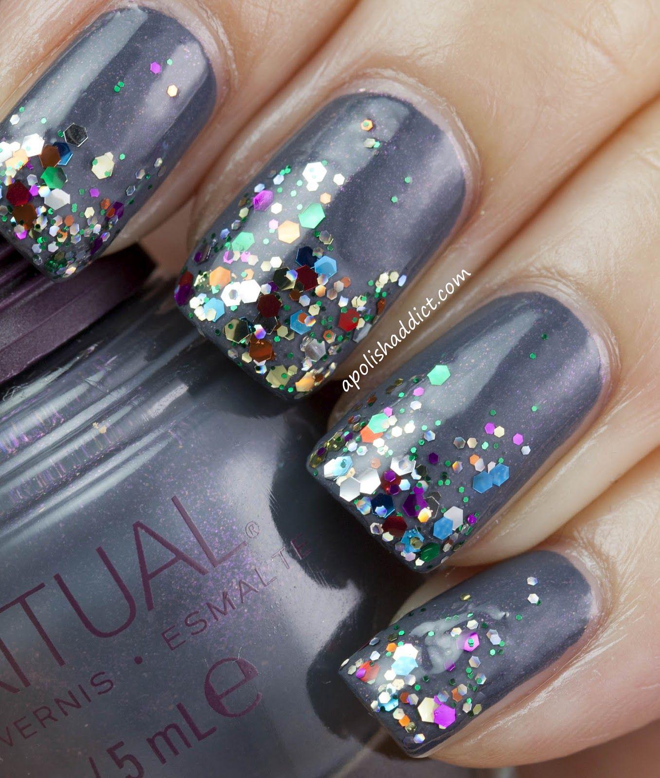 CUTE glitter nails! : blog - A Polish Addict   Hair & Make Up ...
