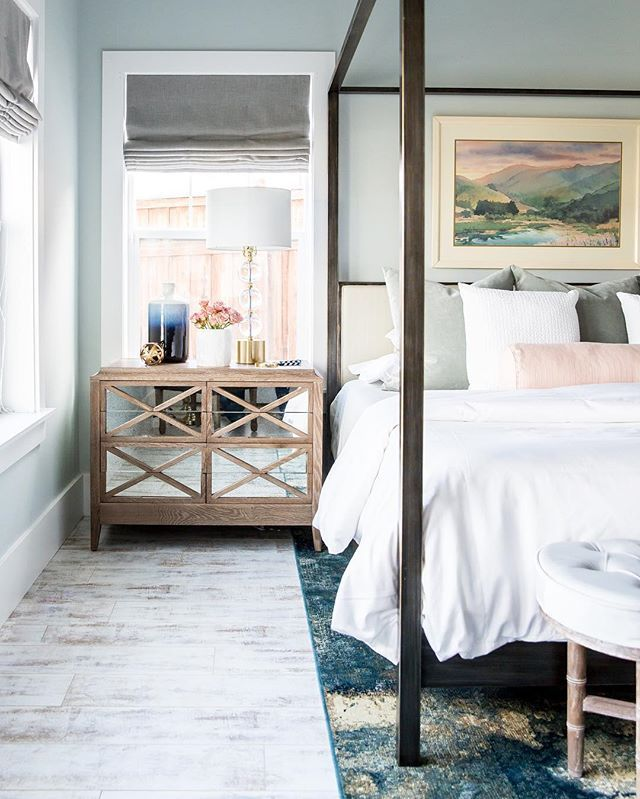 calming transitional glam modern bedroom