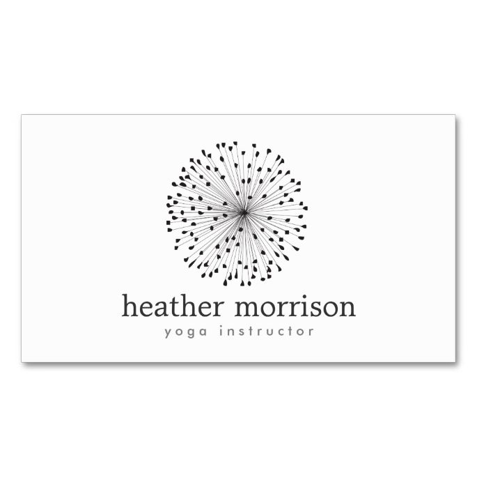 Dandelion Starburst Logo On White Business Card Zazzle Com White Business Card Business Card Design Business Cards Creative Templates