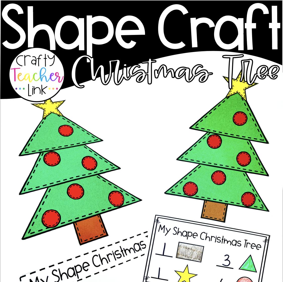 Shape Christmas Tree Colorful christmas tree, Shape
