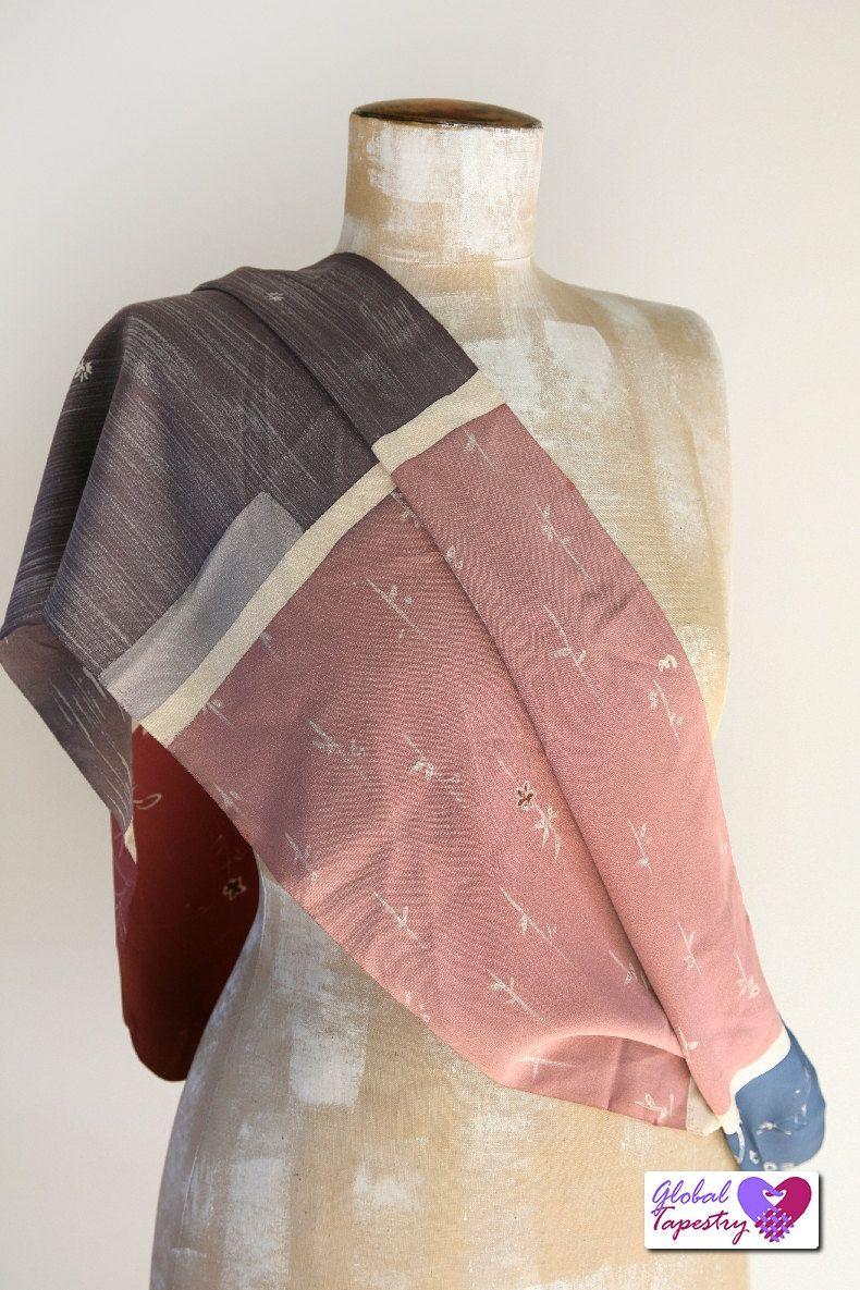 maternity nursing breastfeeding cover - vintage kimono silk scarf