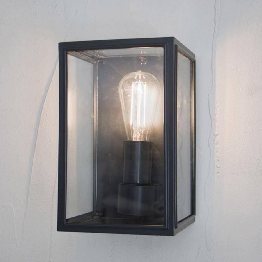 Belgrave Outdoor Lantern In Carbon Steel Wall Lights Outdoor