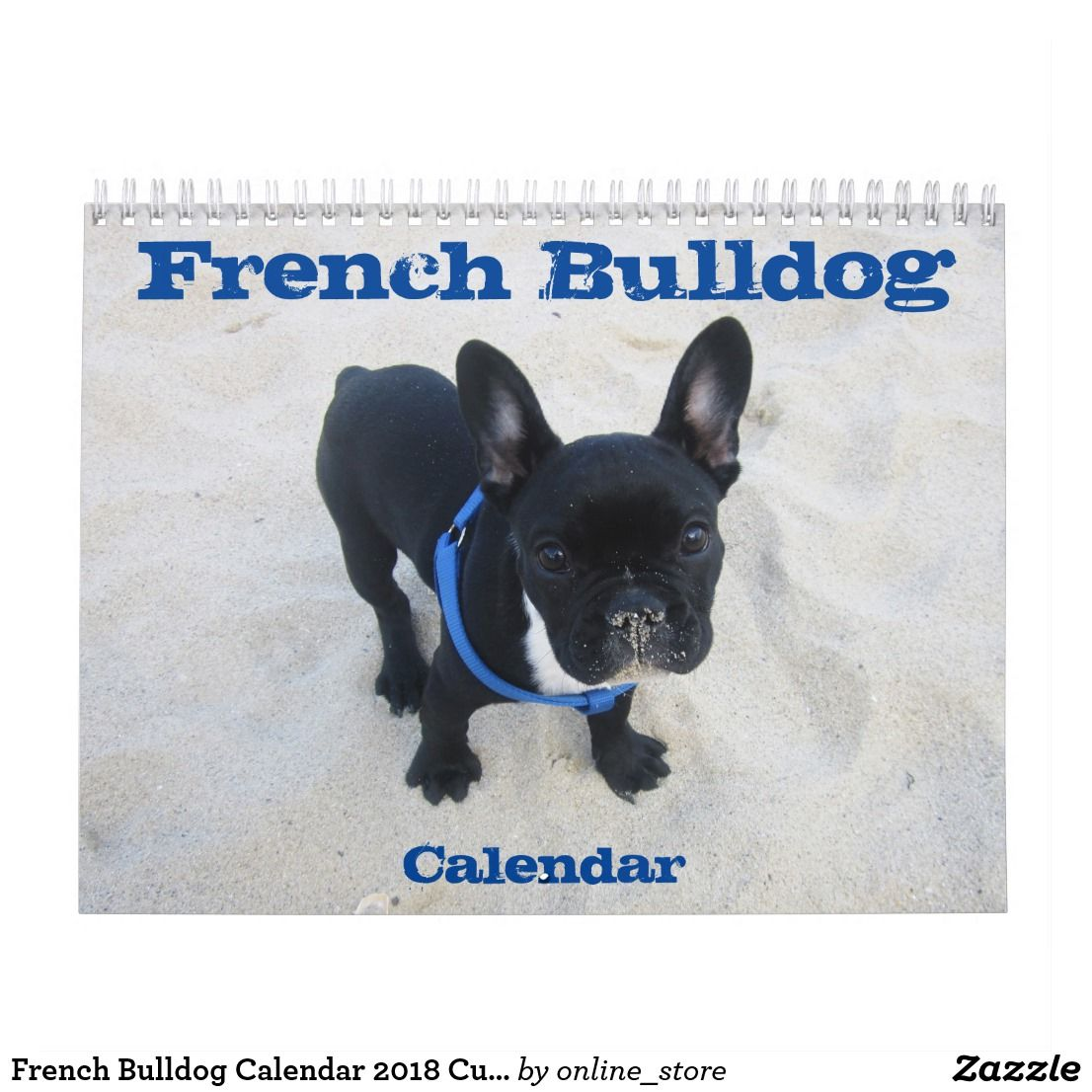 French bulldog calendar 2020 customize it