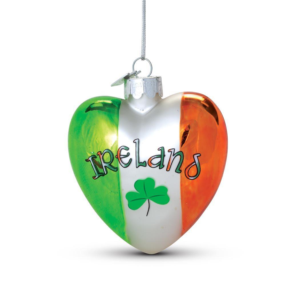 Ireland Glass Heart Ornament | Irish | Pinterest | Ireland, Irish ...