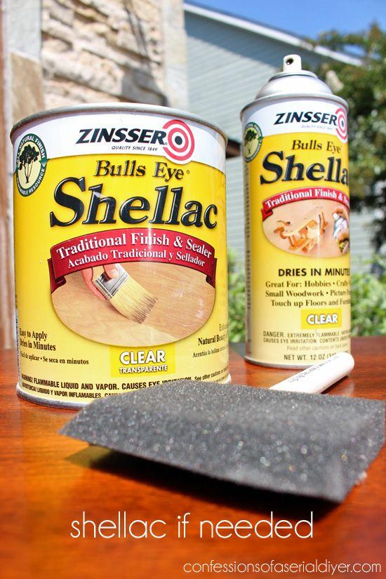 La goma laca se sellará en la mancha para evitar derrame y el sello de olores también!