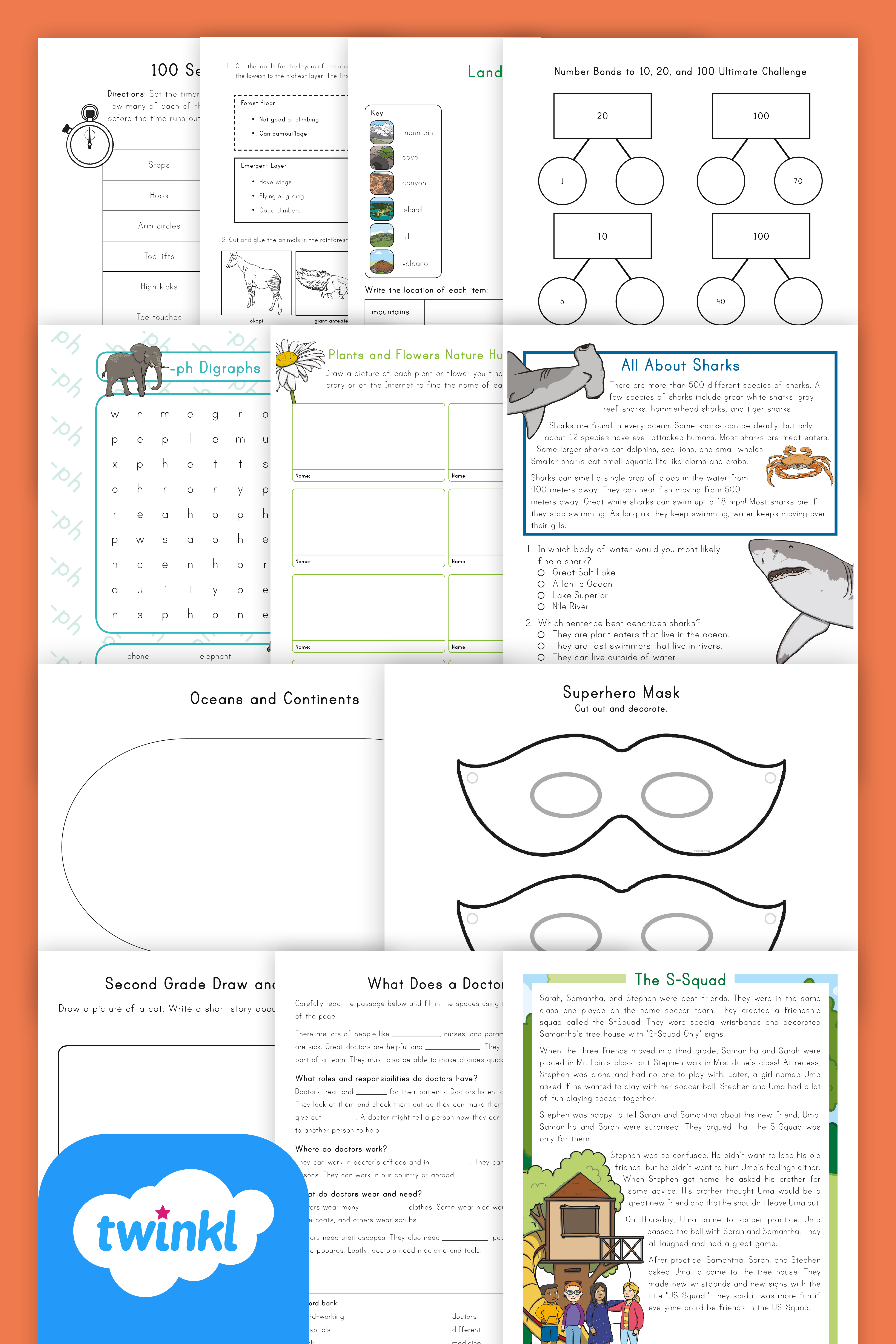 Print And Distribute This Take Home Packet Of Engaging 2nd