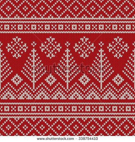 Christmas Sweater Design. Seamless Knitted Pattern   fair isle ...