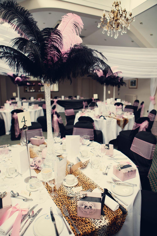 A Pink Leopard Print Themed Diy Wedding Ele Raph